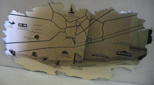 Карта. Гравировка на нержавейке