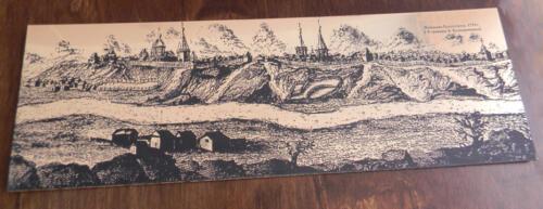 Панорама Красноярска 1735 г.( с гравюры Колпашникова). Гравировка на металлизированном пластике