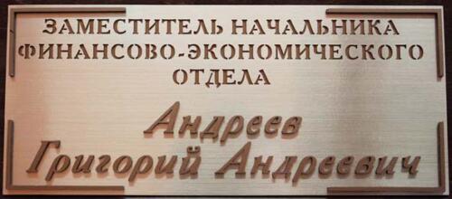 табличка с объемными буквами из ПВХ
