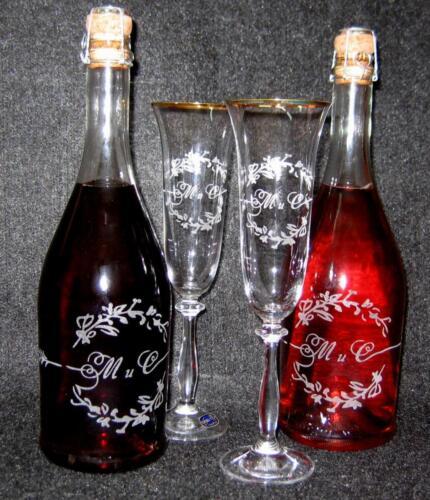 гравировка на бутылках и бокалах