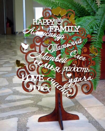 Дерево Счастливая семья. Индивидуальный заказ